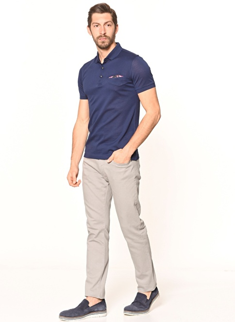Daffari Slim Fit Denim Pantolon Gri